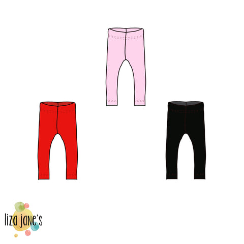 Valentine's Solids- Leggings