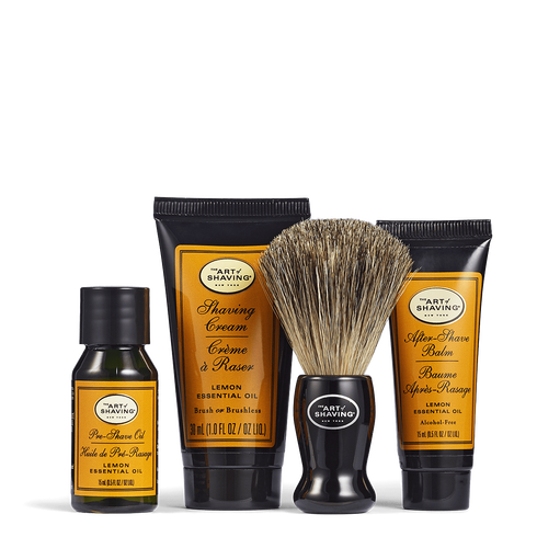 The Art Of Shaving The 4 Elements of the Perfect Shave Lemon (Small Kit)