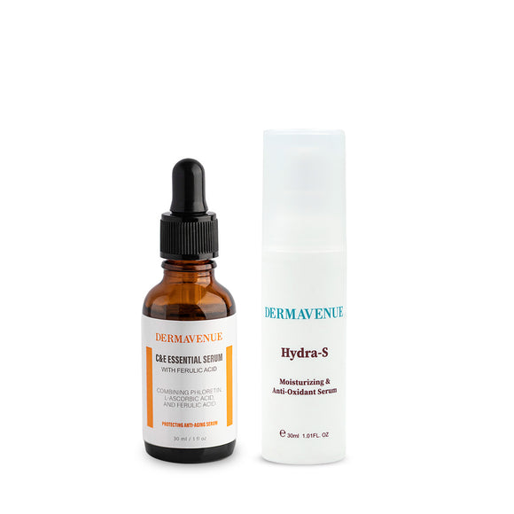 Dermavenue C & E Essential Serum with Ferulic Acid plus Hydra-S Combo