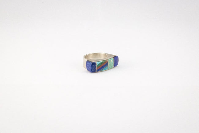 Multi-Stone Inlaid Ring