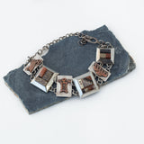 Sterling Silver and Copper Dino Bone Bracelet