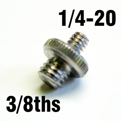 Male to Male 3/8ths to 1/4-20 adaptor