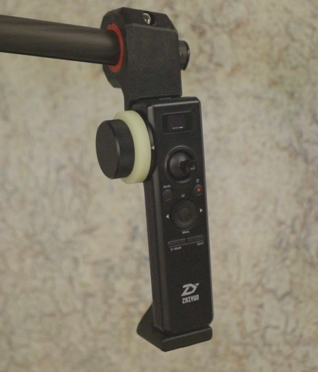 Follow Focus Remote Handle for Zhiyun Dual Handles - ScottyMakesStuff - smooth footage with 4th Axis - Z axis - and accessories for content creators and filmmakers
