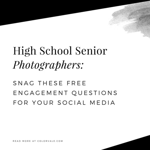 High School Senior Photographers: Snag these FREE engagement questions for your social media
