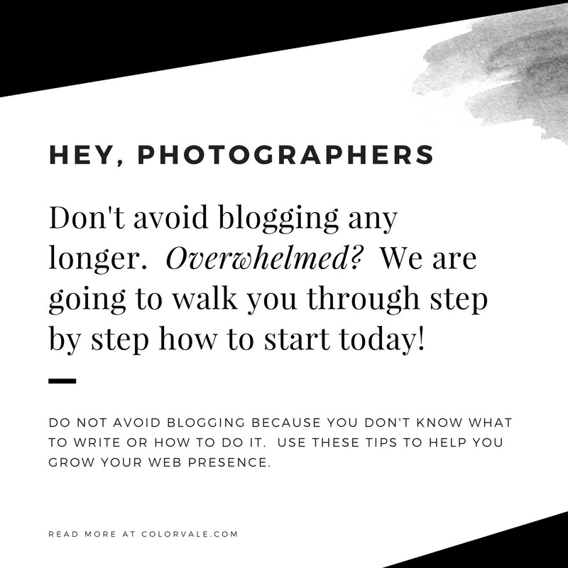 Blogging Tips for Photographers