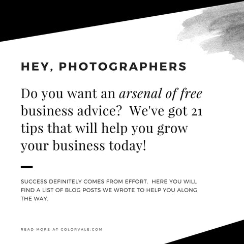Free Business Tips For Photographers