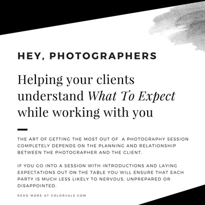 Helping your clients understand what to expect while working with you