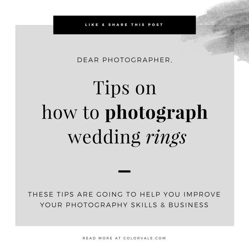 Tips on  how to photograph wedding rings