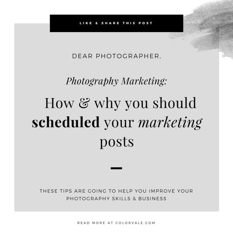 Photography Marketing Strategies | How & why you should schedule your marketing posts