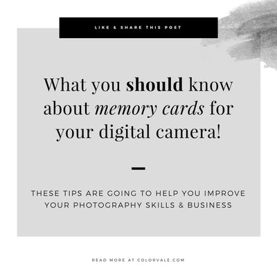 What you should know about memory cards for your digital camera