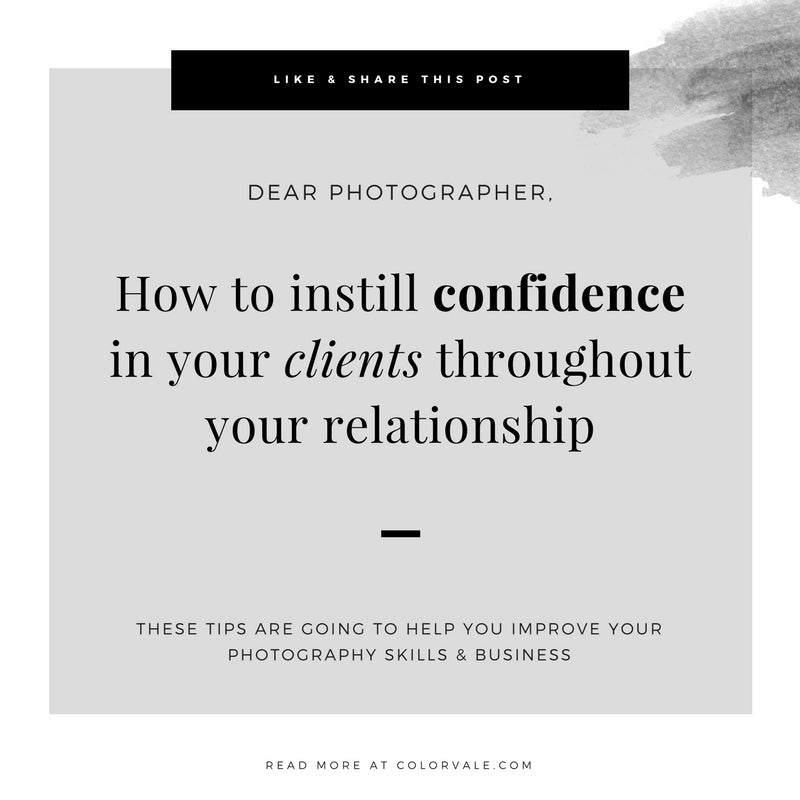 How to instill confidence in your clients throughout your relationship