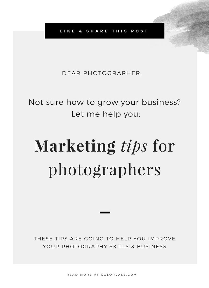 Marketing tips for photographers – Colorvale