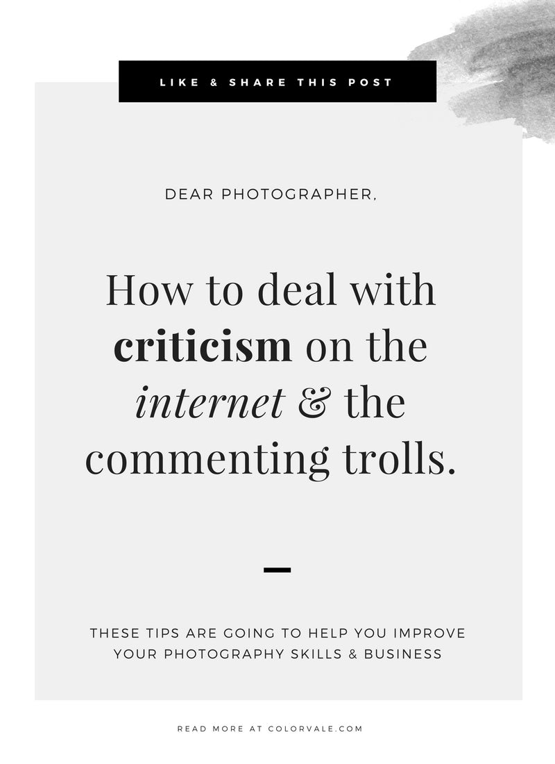 Coping with Criticism on the Internet