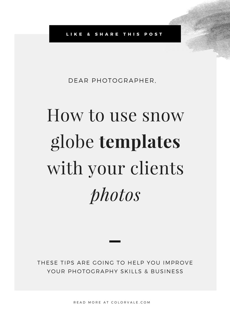 How To Use Snow Globe Templates Colorvale