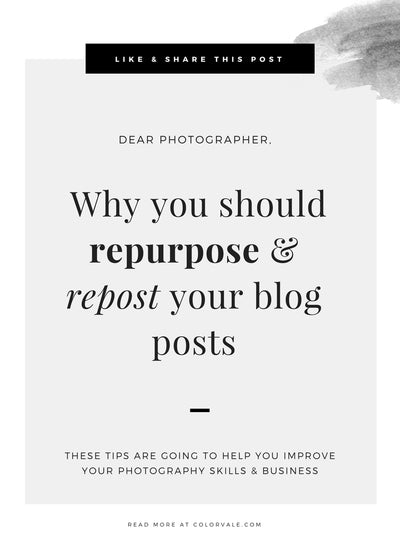 Why you should repurpose & repost your blog posts