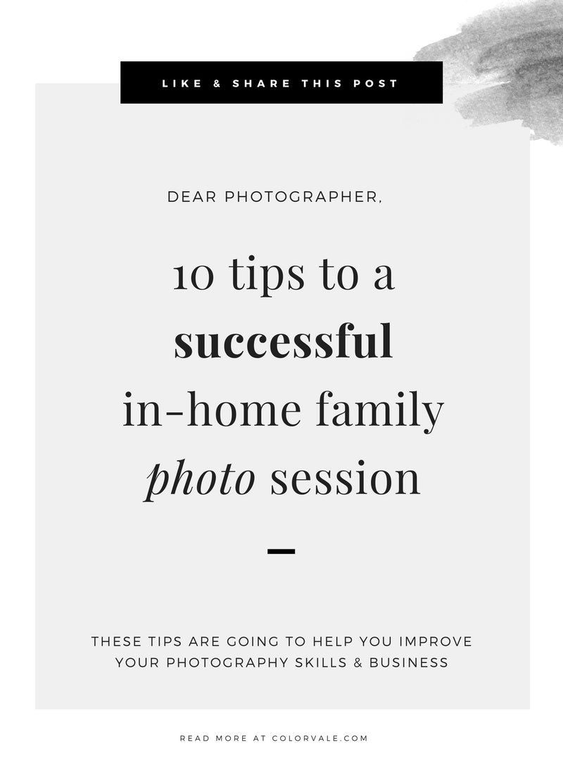 10 tips to a successful in-home family photo session – Colorvale