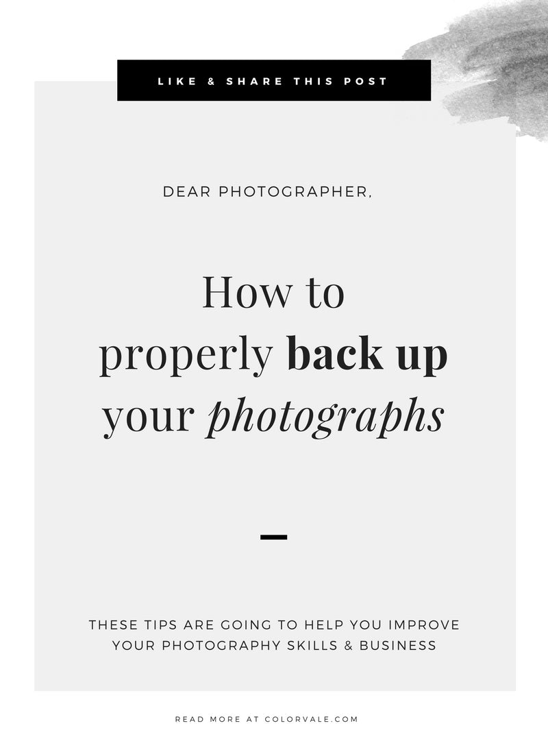 How to properly back up your photographs