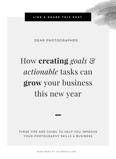 How creating goals & actionable tasks can grow your business this new year