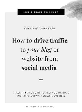 How to drive traffic to your blog or website from social media