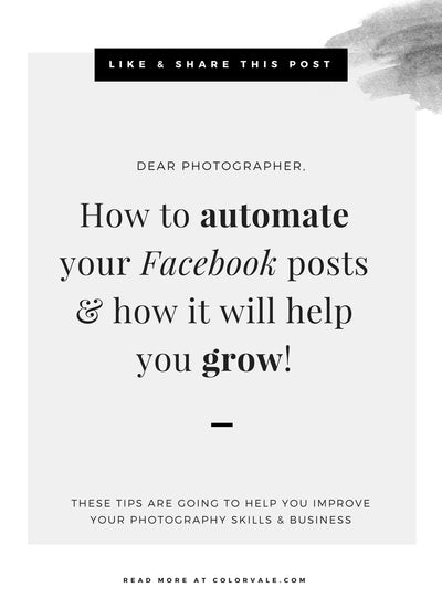 How to automate your Facebook posts & what you should be posting