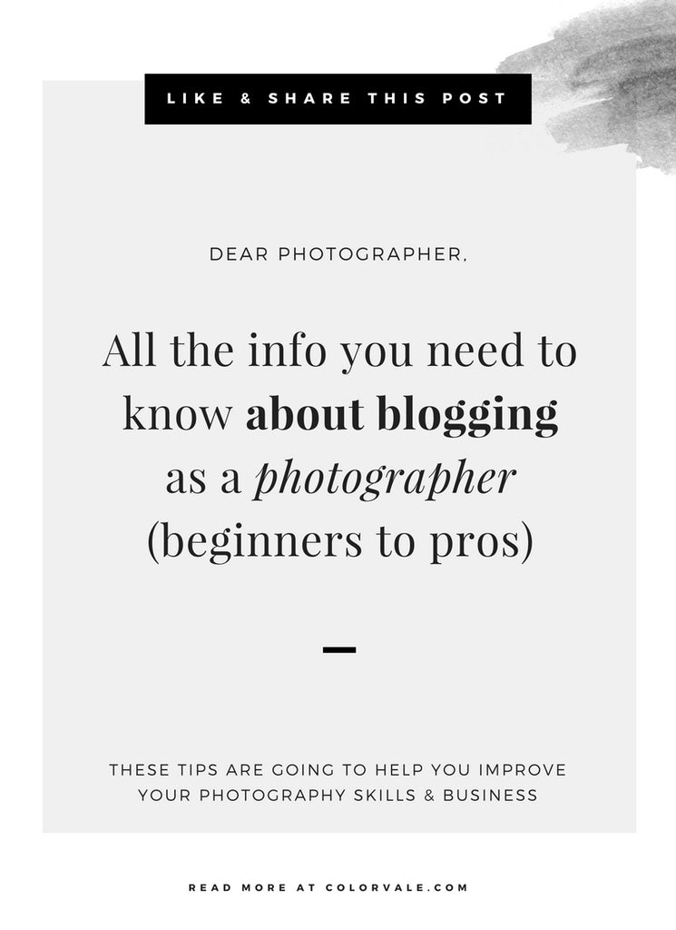 All the info you need to know about blogging as a photographer (beginners to pros)