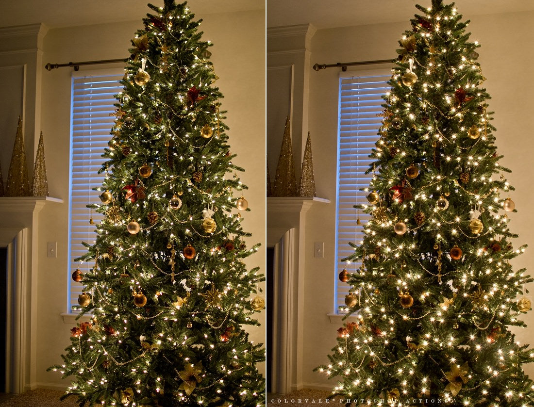 How to photograph Christmas Tree lights