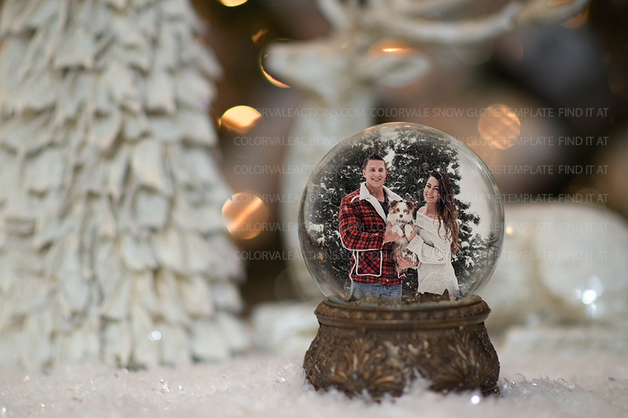 Snow Globe Template for Photographers