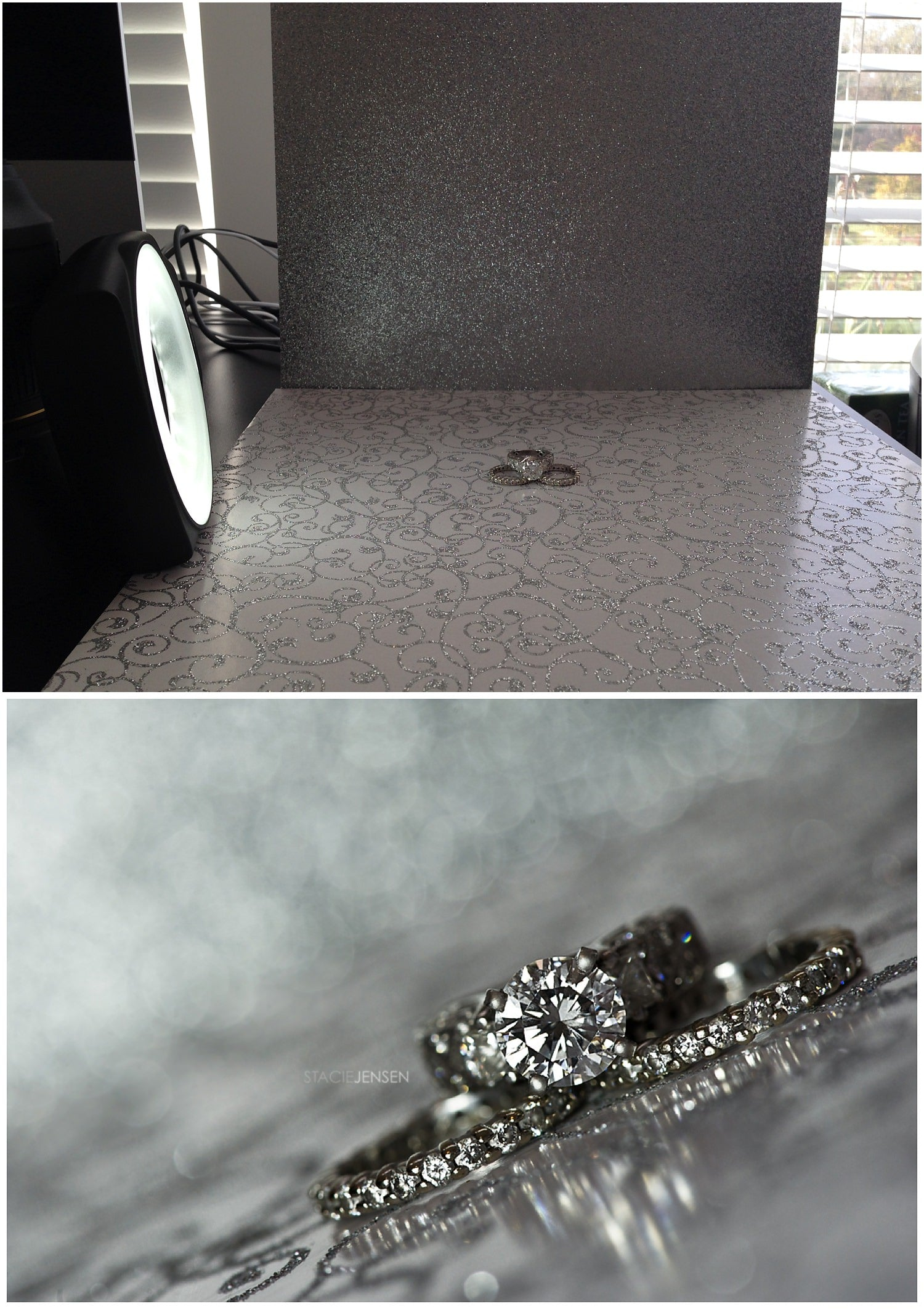 Setup for wedding ring macro photography