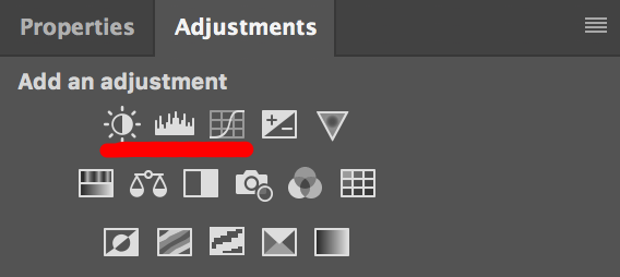 How to adjust overall brightness in Photoshop using the Adjustment Tools