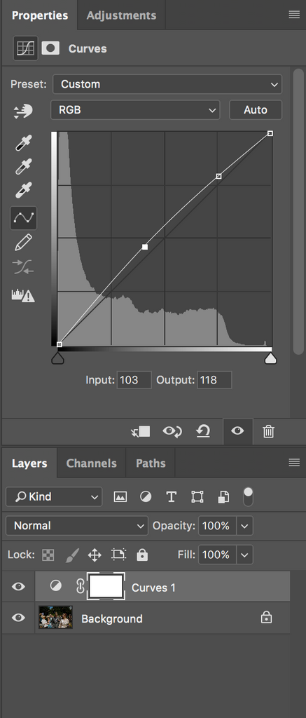 How to adjust overall brightness in Photoshop