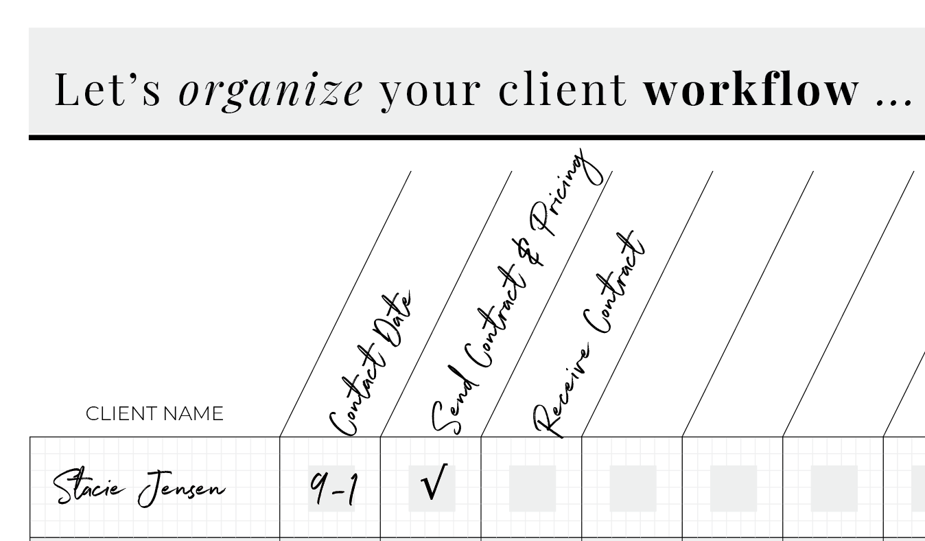 How to create a client workflow chart for your photography business.
