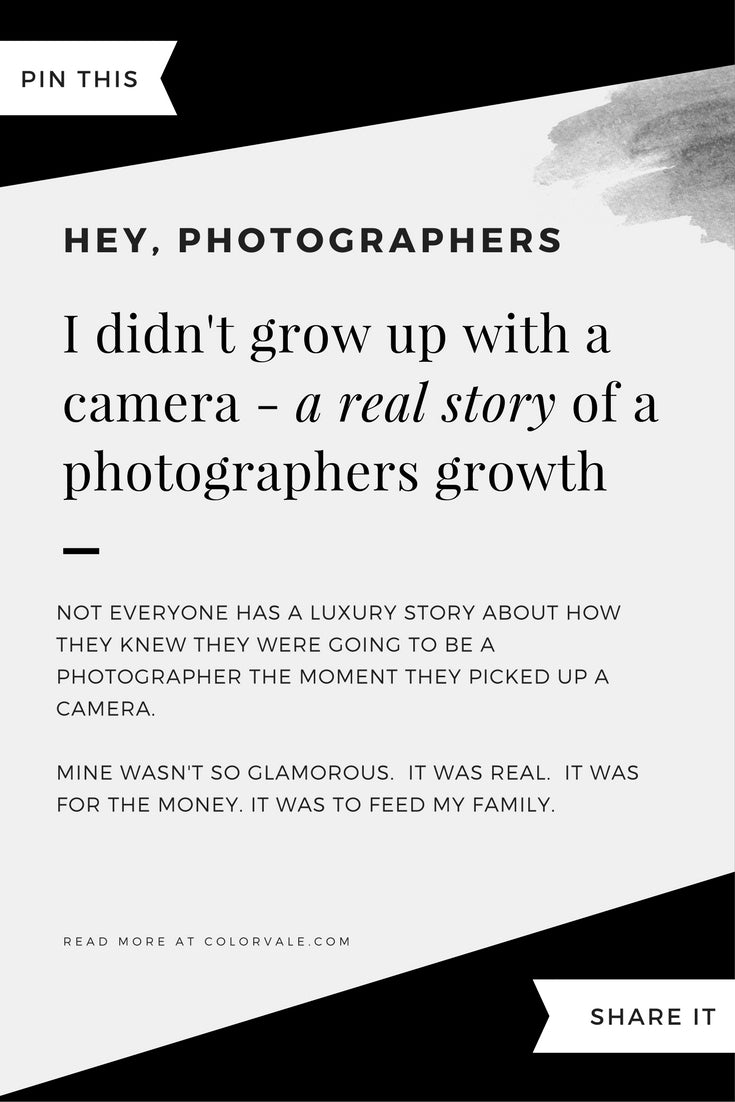 I didn't grow up with a camera - a photographers story