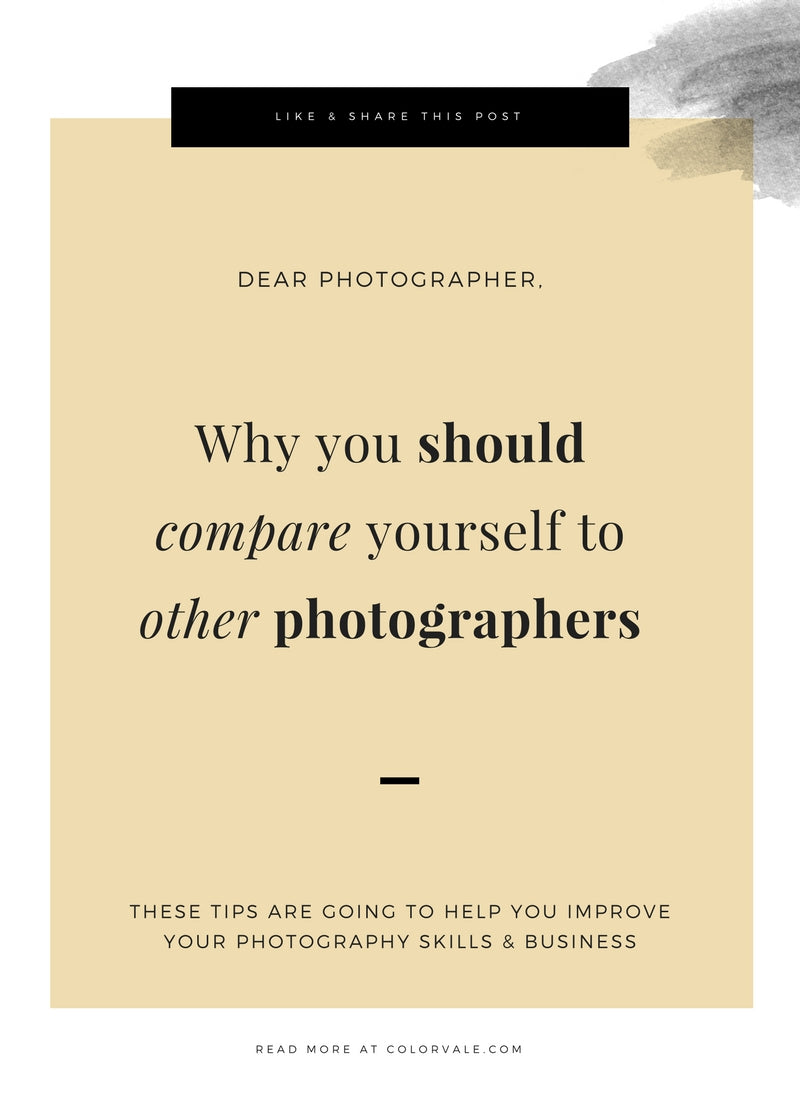 Why you should compare yourself to other photographers, as crazy as that sounds!