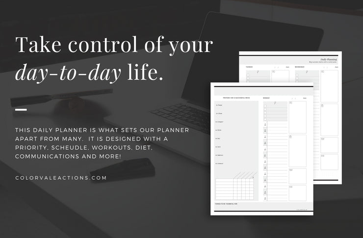 Entrepreneurs Business Planner - When a regular planner or post-it notes don't cut it anymore, you need something that was designed specifically for entrepreneurs & busy life!