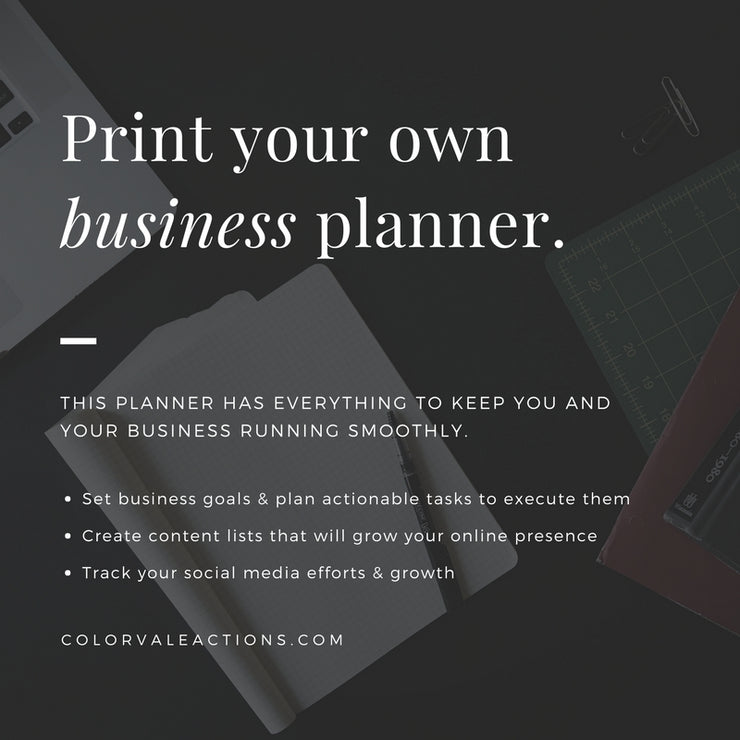 Print your own business planner today!
