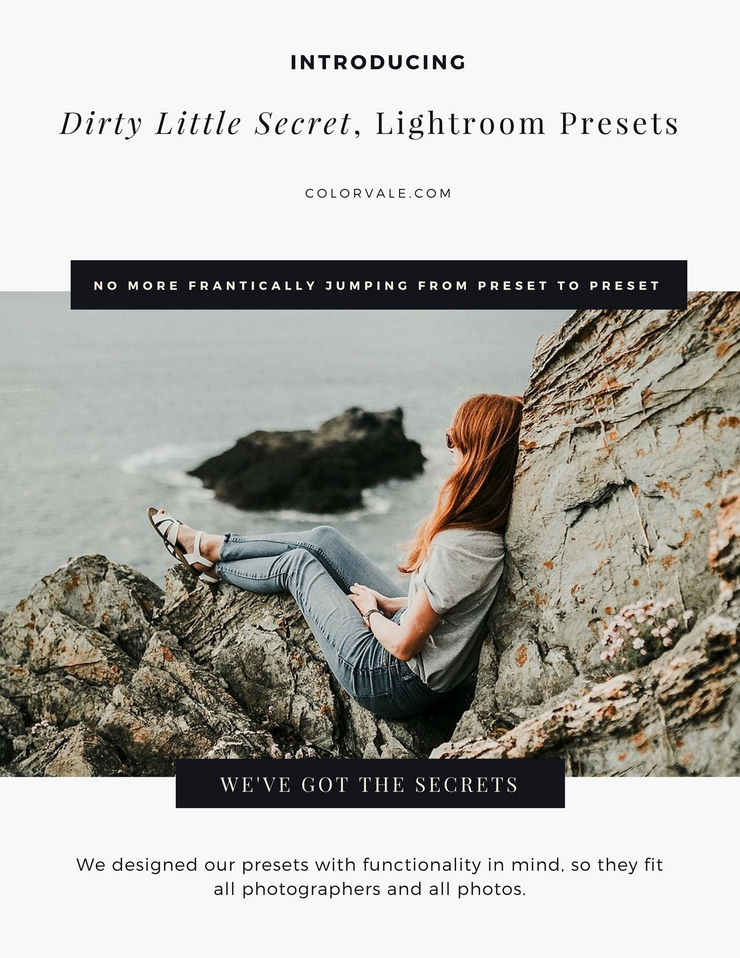 Dirty Little Secret Lightroom Presets for Photographers
