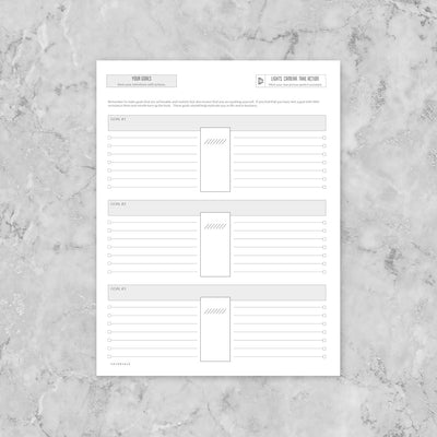 Build your own planner - Goal Planner (add to each monthly section)