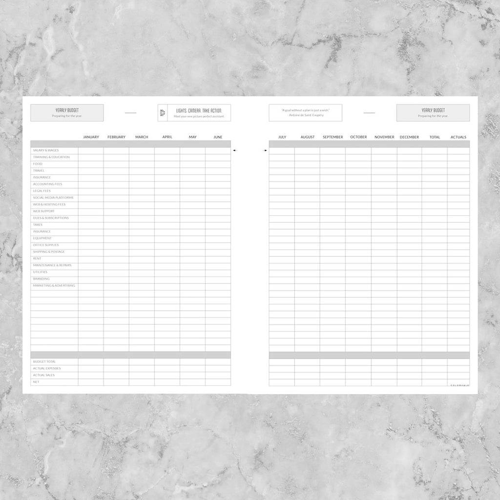 Business Financial Template