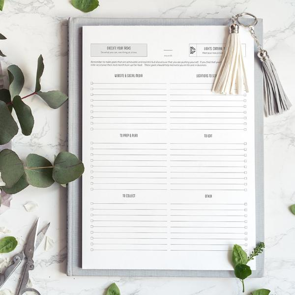 Prioritized Task Lists - for photographers - Planner