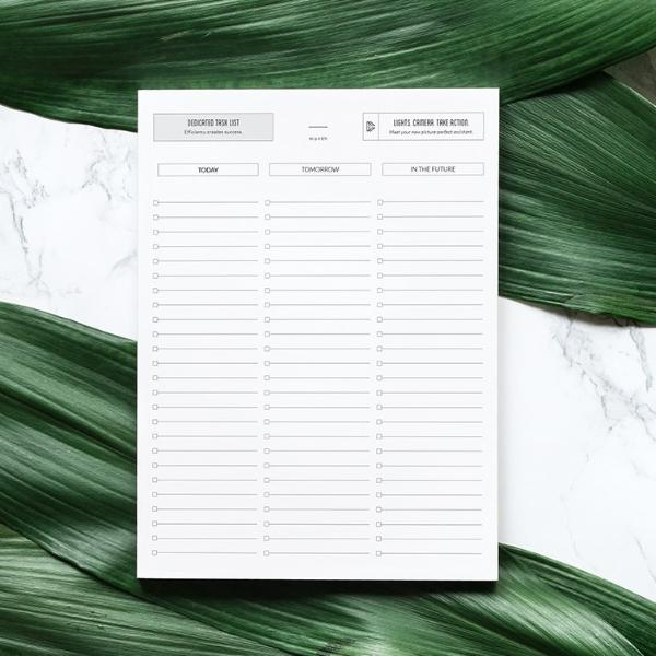 Dedicated Task List Template
