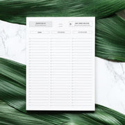 Dedicated Task List Template - for photographers - Planner