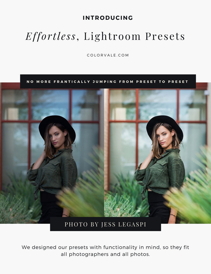 Effortless Edits Lightroom Preset Collection by Colorvale