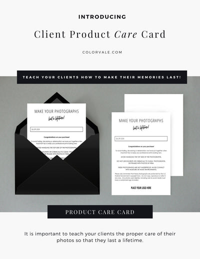 Client Product Care Card by Colorvale