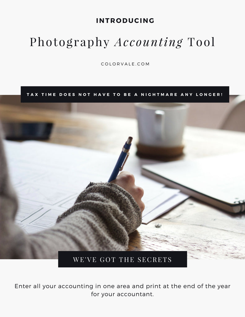 Photography Accounting Tool by Colorvale