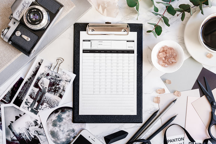 Social Media Schedule - for photographers - Planner