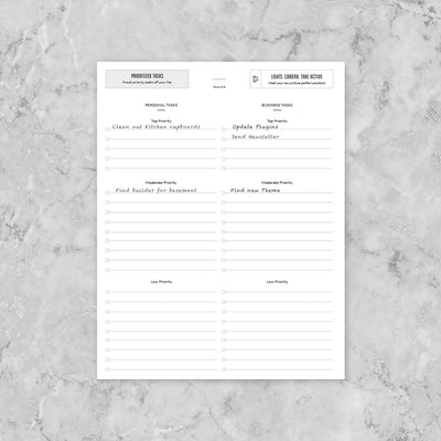 Priority Task List Template