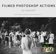Download this photoshop action collection today!  Filmed by Colorvale