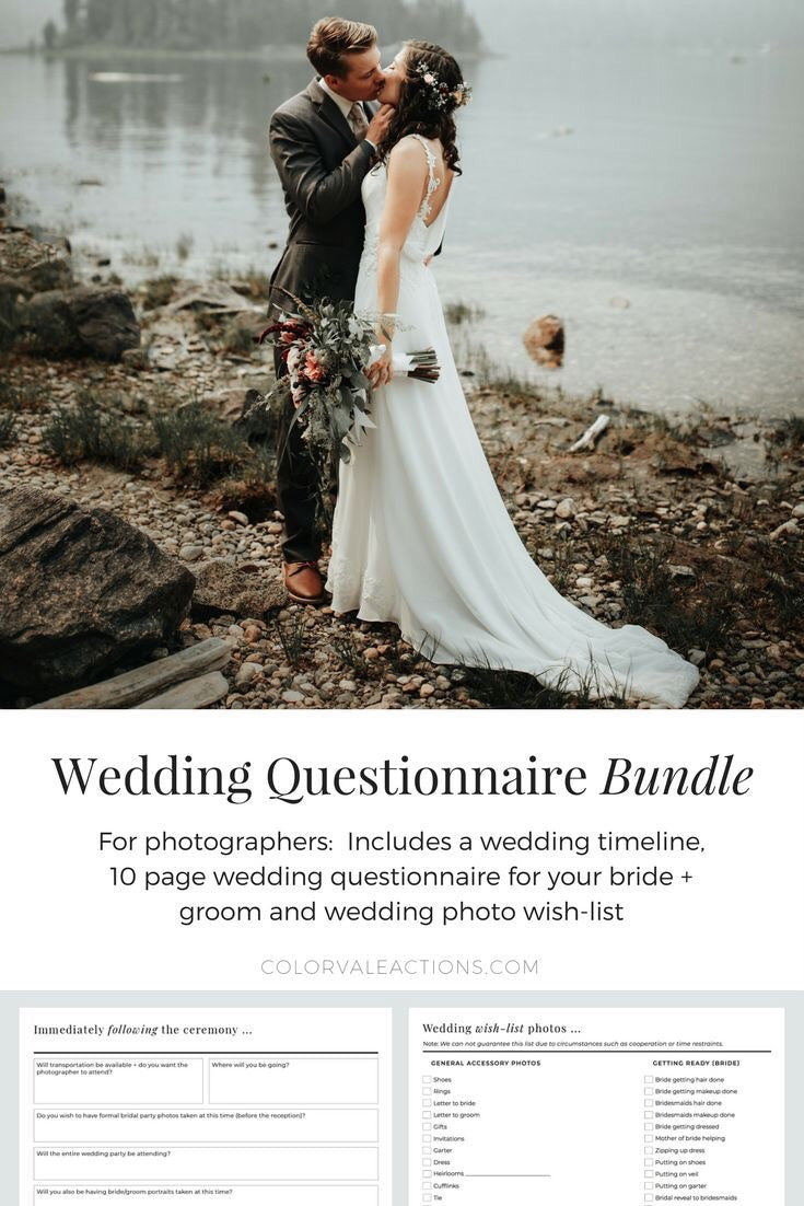 Wedding Day Questionnaire Bundle