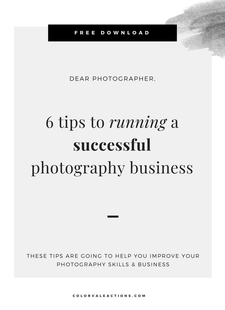 6 tips to running a successful photography business