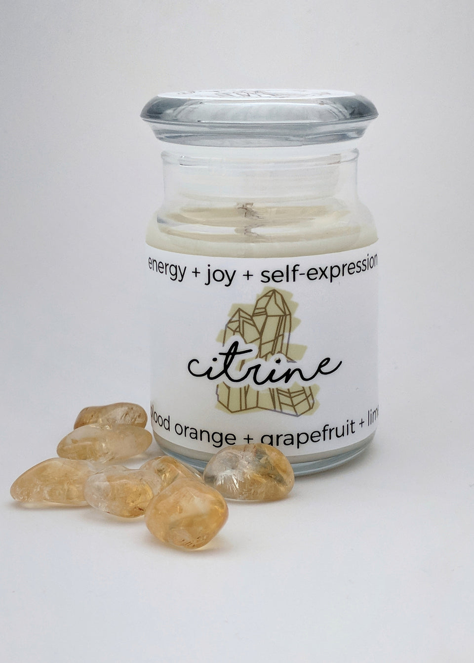 Citrine Hidden Crystal Candle